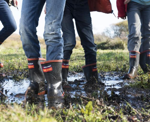 Red Band gumboots by rubber product manufacturer Skellerup.PHOTO: SUPPLIED
