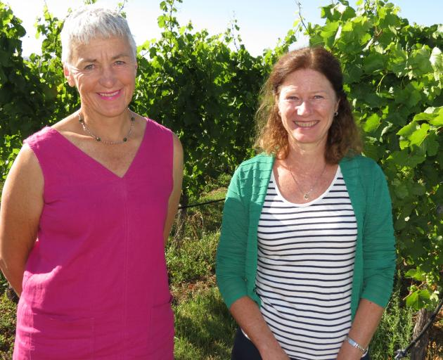Women in Wine New Zealand representatives chairwoman Katherine Jacobs (left) and national co-ordinator Nicky Grandorge, visited Central Otago last week to talk to women and men in the wine industry about what the group did and upcoming activities. They sp