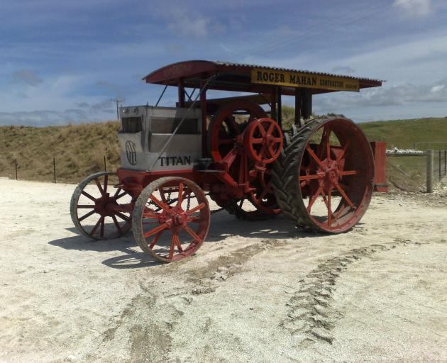 This is the oldest tractor in New Zealand. It is a 1910 D Titan owned by Roger Mahan, of Milburn. Photo: Roger Mahan