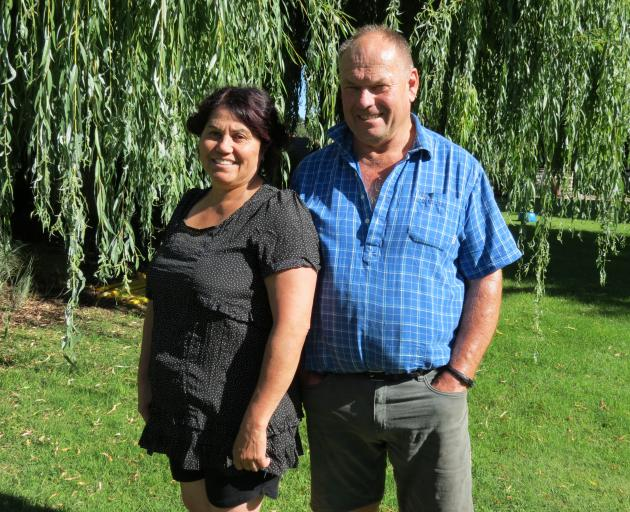 Shearing contractors Peter and Elsie Lyon, of Peter Lyon Shearing, celebrate 33 years in business next month. Photo: Yvonne O'Hara