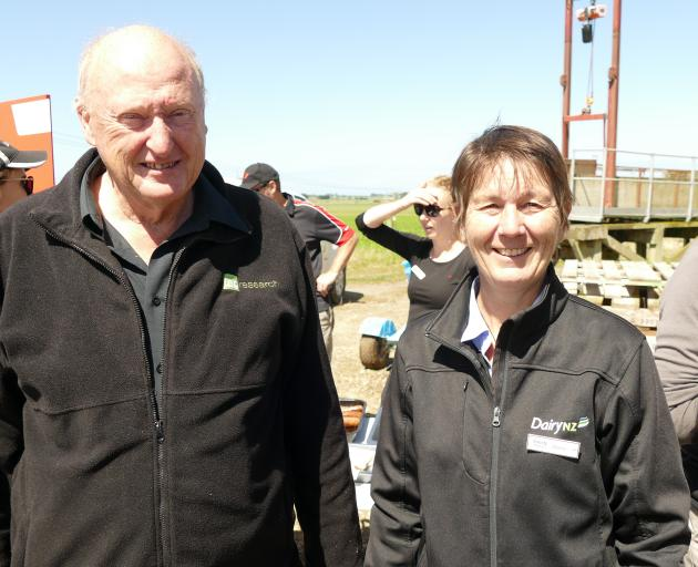 Speakers at the Southern Dairy Hub field day were AgResearch's Chris Smith and Southern Dairy Hub...