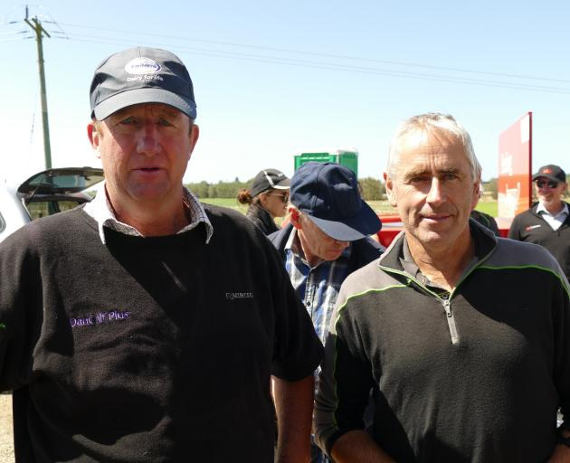 Speakers at the Southern Dairy Hub field day were Winton farmer Dean Alexander and Seaward Downs farmer Kevin Hall.