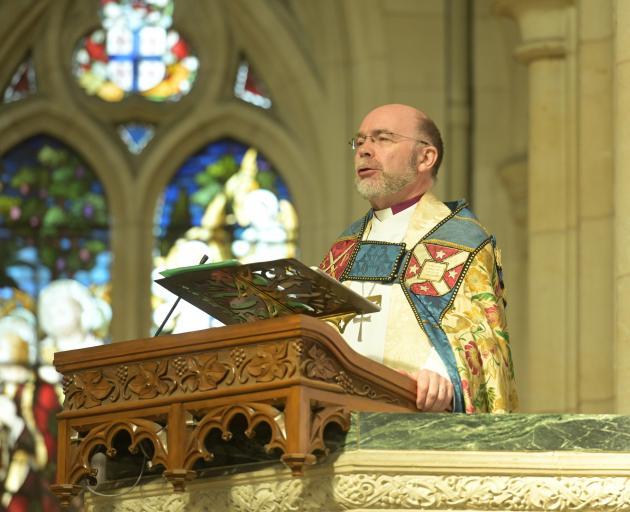 Delivering the sermon during the service to mark the centenary of St Paul's Cathedral is the...