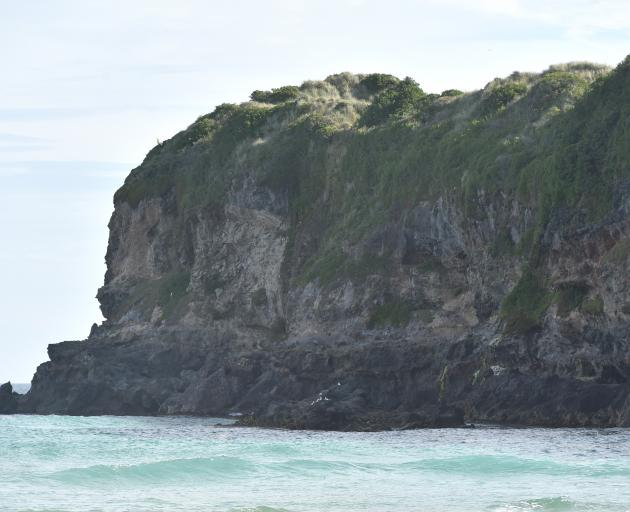 The spot where two people were rescued after getting into trouble at Tomahawk Beach this...