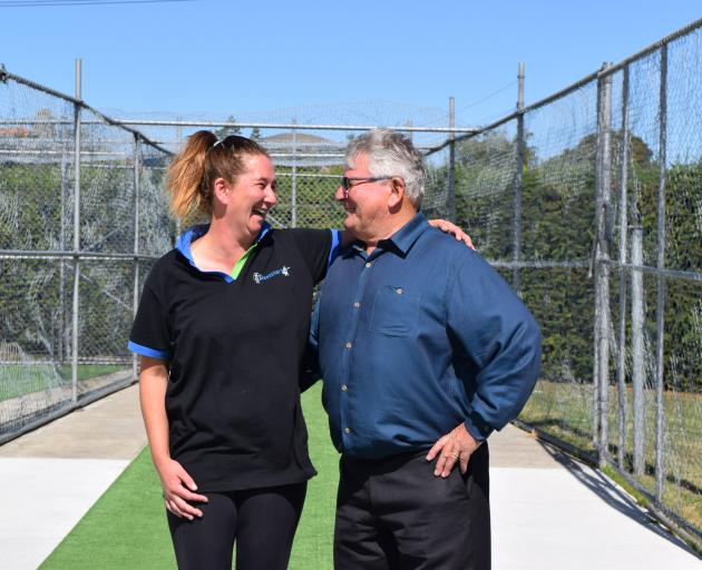 Philippa Milburn has nominated her father Barry Milburn, a former New Zealand and Otago wicketkeeper, for the Mosgiel-Taieri Community Board's Celebrating Local Excellence project. Photo: Shawn McAvinue
