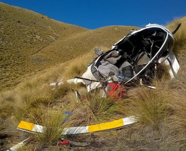 Wreckage at the site after the crash.  Photo: CAA Safety Investigation Unit