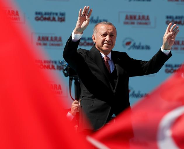 Turkish President Recep Tayyip Erdogan has shown video of the Christchurch mosque shootings at...