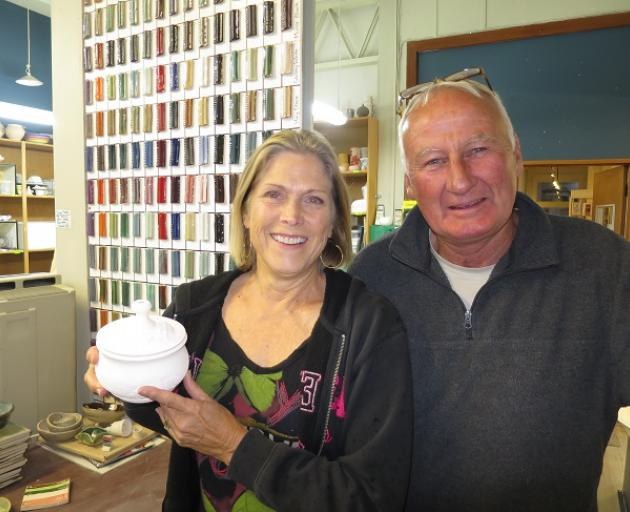 Wakatipu Potters Group president Martha Matthews and educational coordinator Stuart Buxton. Photo...