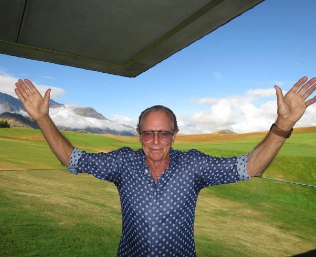 Sir Michael Hill at his golf course, The Hills. Photo: Mountain Scene
