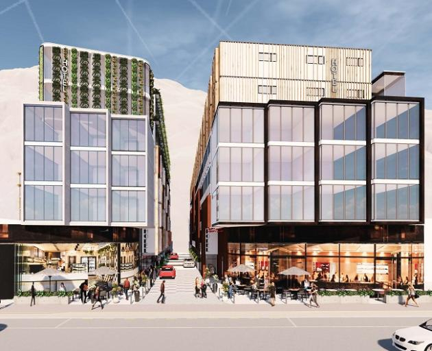 Major proposal: An artist's impression of the proposed two hotel buildings on Gorge Road. Photo: Supplied
