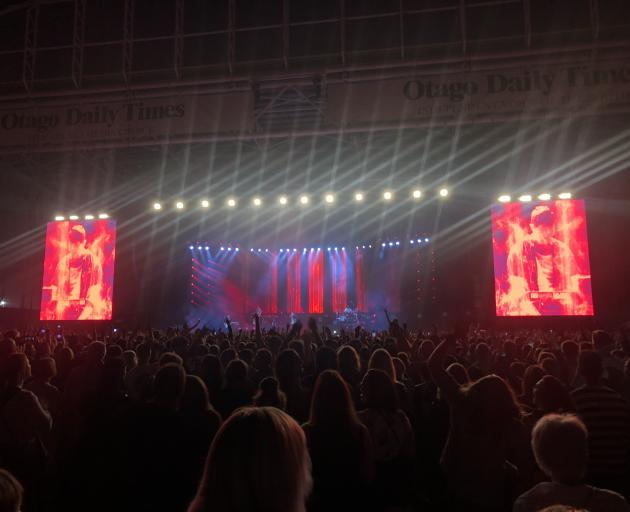Fans watch on in awe as Six60 perform at Forsyth Barr Stadium. Photo: Craig Baxter