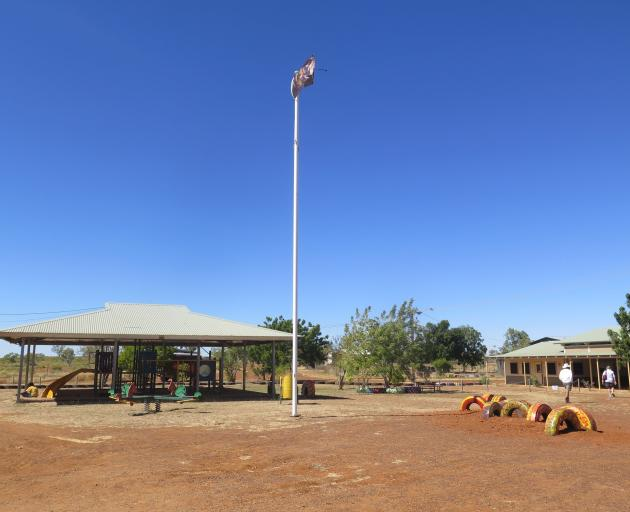 A particularly remote Aboriginal community school, home to the Yiyili people, a community of 250...