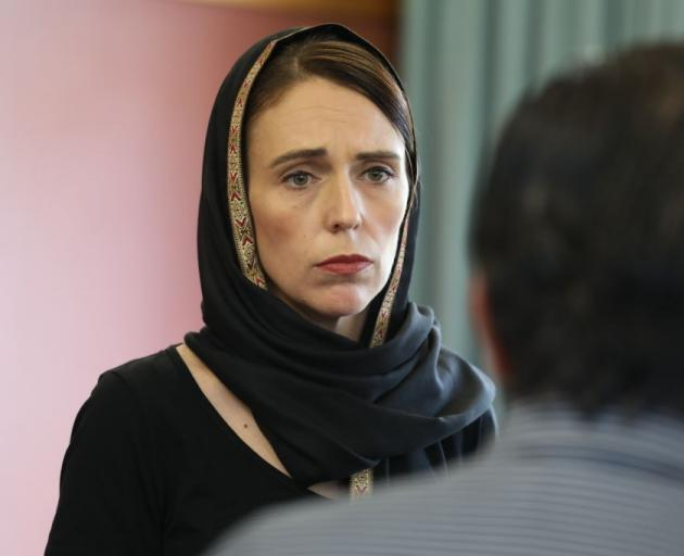 Jacinda Ardern met with members of the Muslim community in Christchurch today. Photo: Office of...