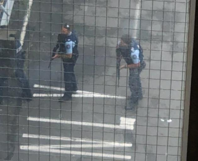 Police at the shooting in Christchurch. Photo: Supplied via NZME.