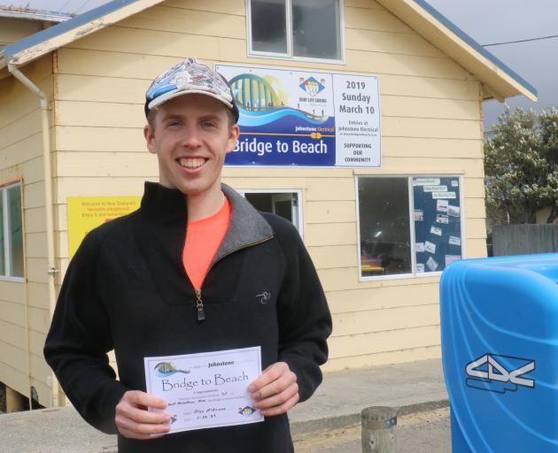 Alex McKenna, of Dunedin, won the 10th annual Bridge to Beach race from Balclutha to Kaka Point...