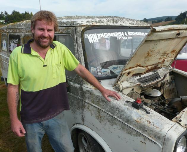 Darcy Win, of Lawrence, and his unconventional entry at the Lawrence Show & Shine event on...