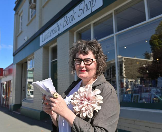 University Book Shop fiction and stationery buyer Bronwyn Wylie-Gibb looks forward to crossing...