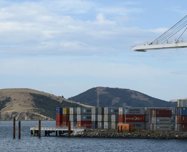 Piles (far left) have been sunk for the future $1 million Port Otago public fishing wharf at...