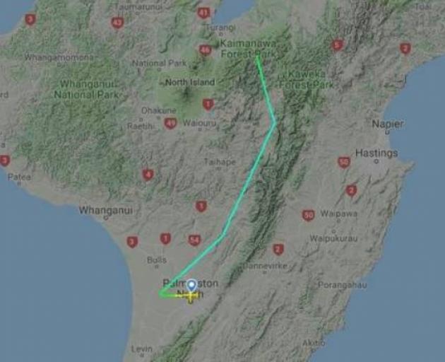A flight radar website tracked last night's flight. Image: Supplied