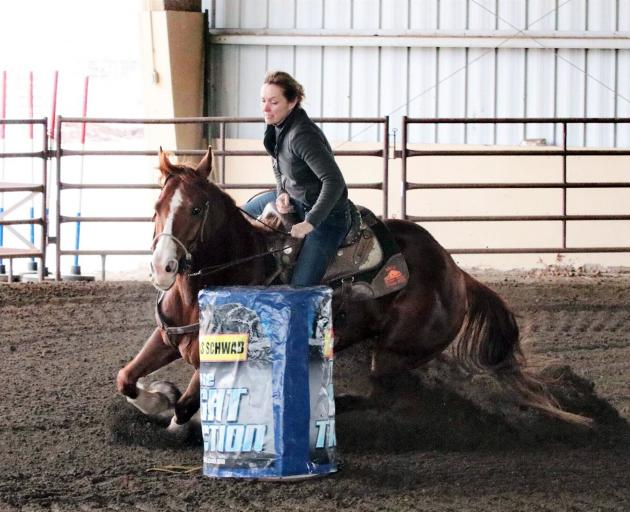 Sharon Gow is a keen barrel racing enthusiast. PHOTO: GOW FAMILY