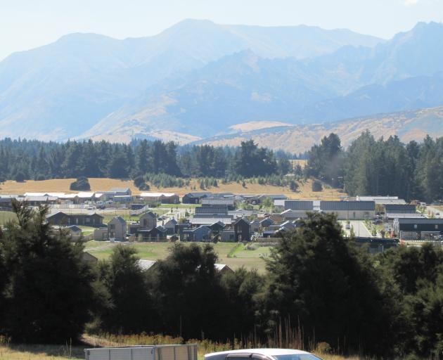 Wanaka's Northlake special zone development from Hidden Hills. Photo: Mark Price