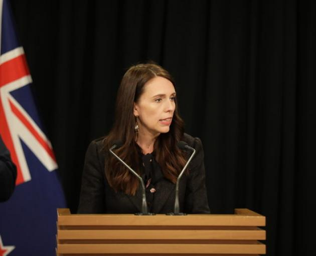 Jacinda Ardern at her weekly post-cabinet news conference. Photo: RNZ