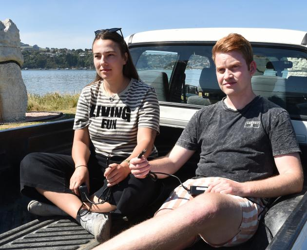 Lime juicers Emma Bloem (21) and Nick Borich (25) are lamenting their lost income while Lime...