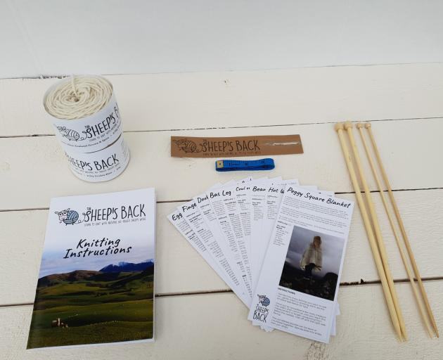 The Sheep's Back knitting kits. PHOTOS: SUPPLIED