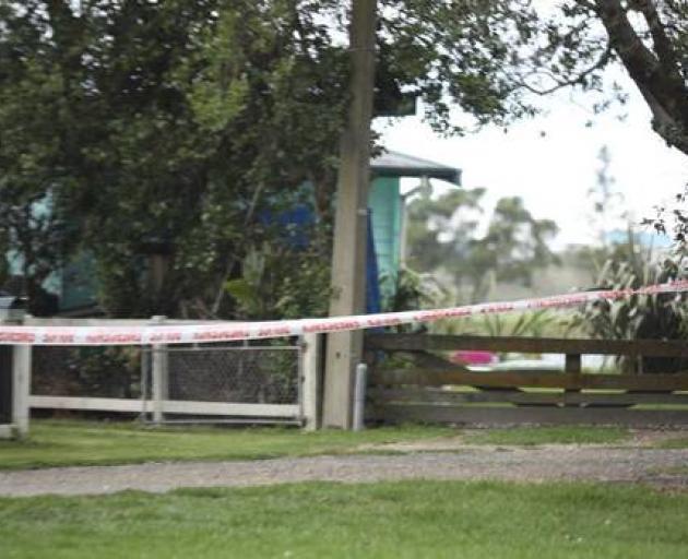 Police tape outside properties near in Maketu on March 22. Photo: NZME
