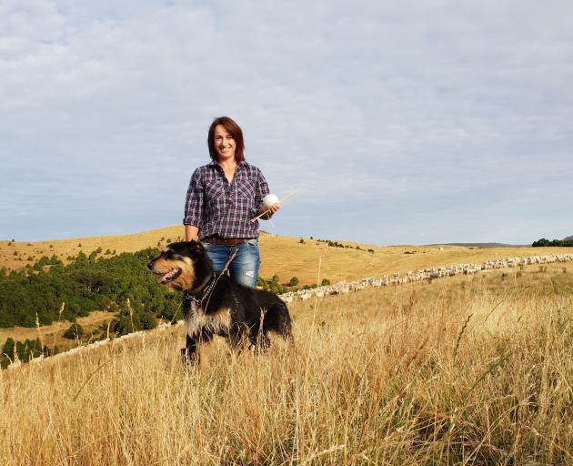 Andrea Bulleid and Bruce at home on the farm in Northern Southland. Photo: Supplied