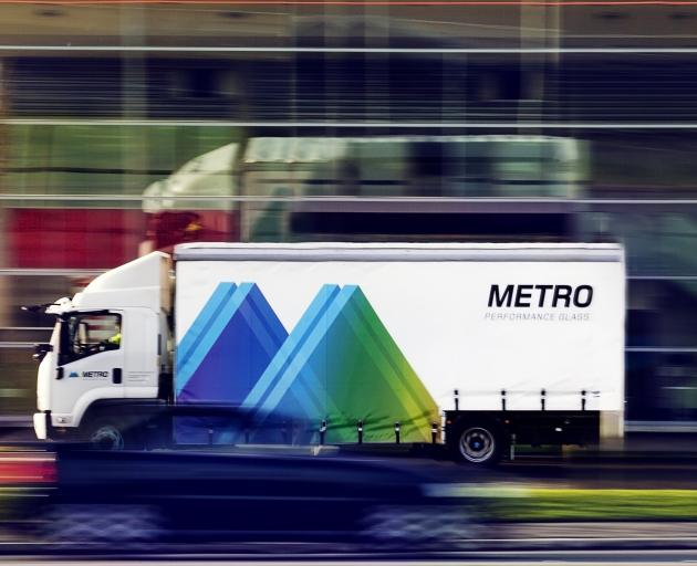 A Metro Performance Glass delivery truck. Photo: Supplied