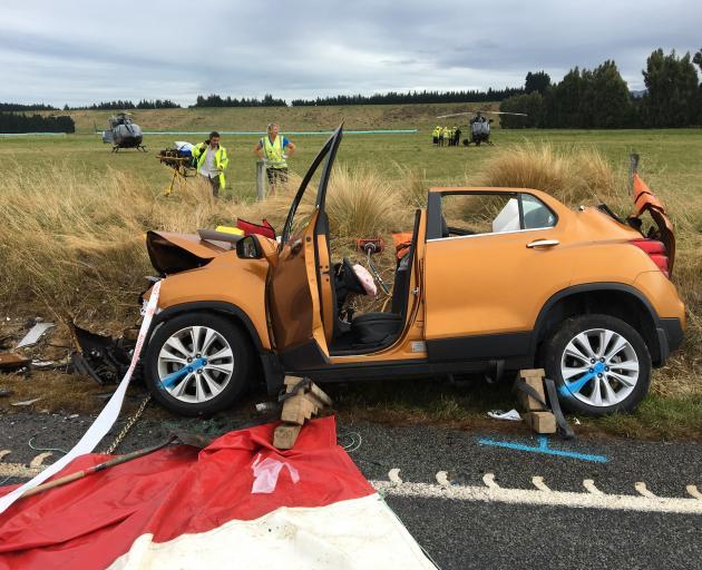 Paramedics attend a crash near Mossburn. Photo: Supplied