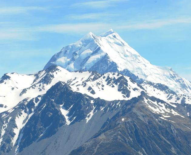 Three hikers were caught in the avalanche on the South Island mountain this afternoon. Photo: ODT...