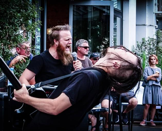 Invercargill ''electroscum'' duo Murgatroyd (Matt Hoffman (left) and Jordan Cossill) plays The Crown Hotel next  Saturday. Photo: Supplied
