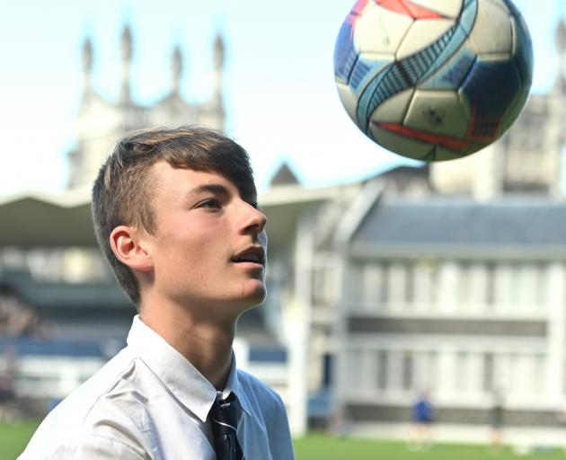After his first appearance for Southern United, Otago Boys' High School pupil Oliver Colloty has his eyes set on more. Photo: Linda Robertson