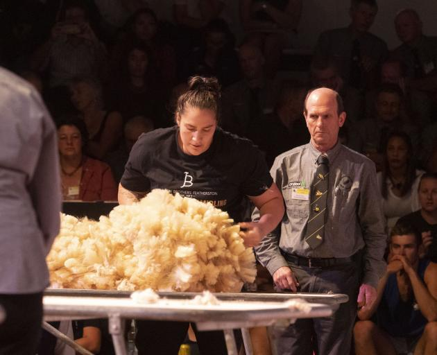 Alexandra woolhandler Pagan Karauria has been selected for the world shearing and woolhandling...