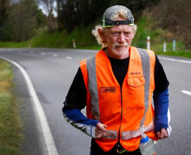 Perry Newburn says he'll never know how far his support team drove him on his length of NZ run....