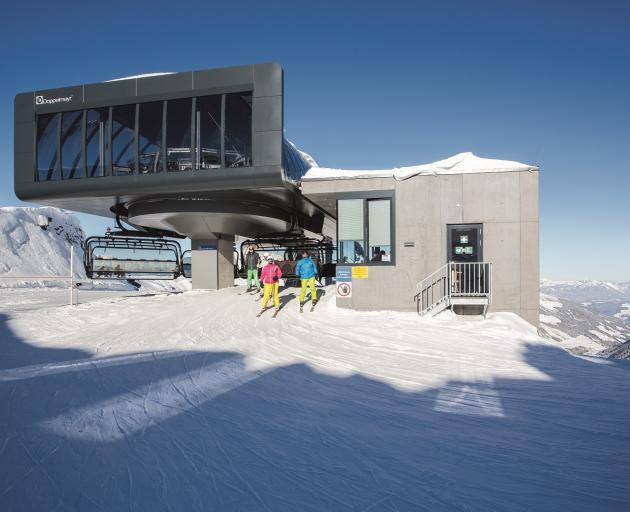 An artist's impression of the new top station at The Remarkables.