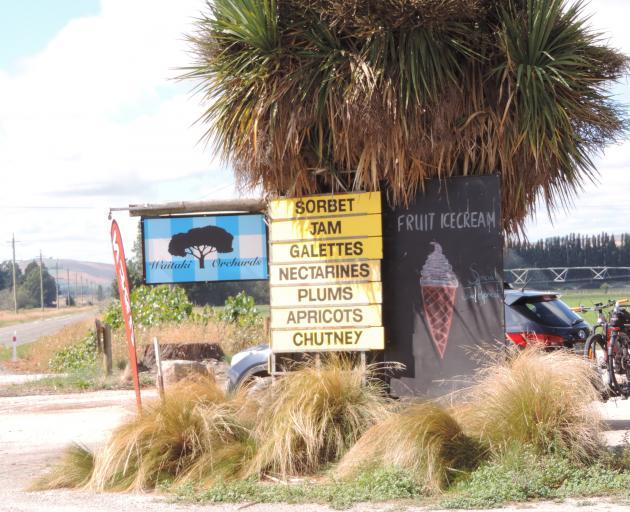 Waitaki Orchards attracts traffic driving along State Highway 83 near Kurow. Photo: Sally Brooker