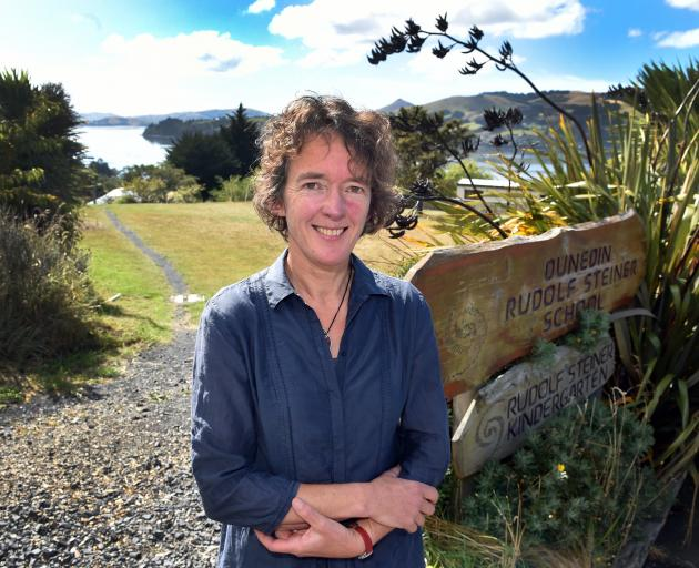 Rudolf Steiner School and Kindergarten proprietors trust executive officer and fundraising campaign co-ordinator Clare Ridout outside the school in Maia, which hopes to start building expansion work later this year. Photo: Peter McIntosh