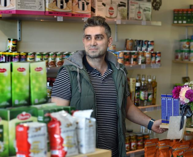 Business owner Hasan Abdel Rahman says some Dunedin Muslims remain afraid to leave their homes after the Christchurch terror attack but many are feeling relatively safe following a reassuring talk from police. Photo: Peter McIntosh