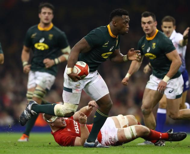 South Africa's Siya Kolisi on the run against Wales, two teams among the proposed new world...