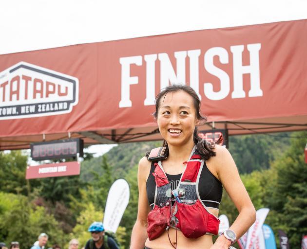 Nancy Jiang wins the Motatapu women's ultra marathon on Saturday. PHOTO:TIM BARDSLEY-SMITH