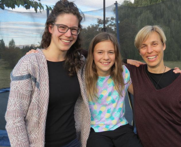 Switzerland is to be represented in the World Shearing and Woolhandling Championships in France in July by woolhandlers (from left) Jael Hertach, of Switzerland, and Charis Morrell (13), and her mum team manager Gabriela Schmidt-Morrell, both of Alexandra