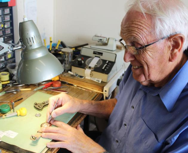 Greymouth's long-serving jeweller and watch-maker Ian Tennent is closing his shop soon. Photo:...