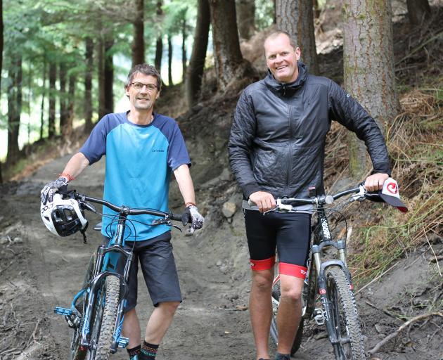 Bike Glendhu founders John Wilson (left) and John McRae are excited about opening a new bike park next spring, featuring up to 50km of trails on Mr McRae's Glendhu Station property. Photo: Supplied