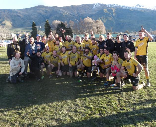 The Upper Clutha side after winning the Central Otago banner last year. PHOTO: SEAN NUGENT