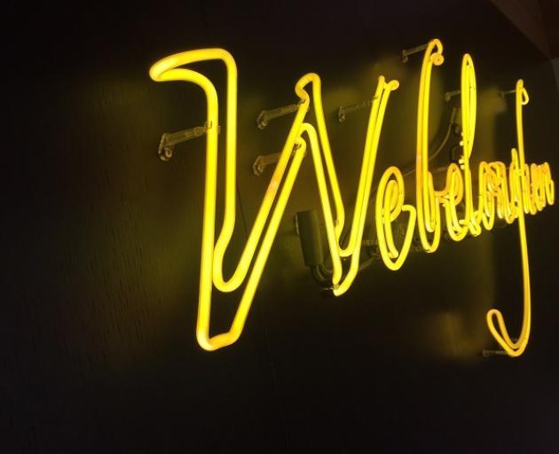 Neon artwork 'We belong here' prior to getting damaged. Photo: Mountain Scene