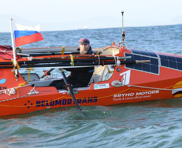 Russian adventurer Fedor Konyukhov is more than a third of the way through his rowing journey to Cape Horn. Photo: Stephen Jaquiery