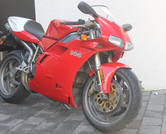 The Ducati motorcycle which still has not been recovered after a Queenstown burglary. Photo:...